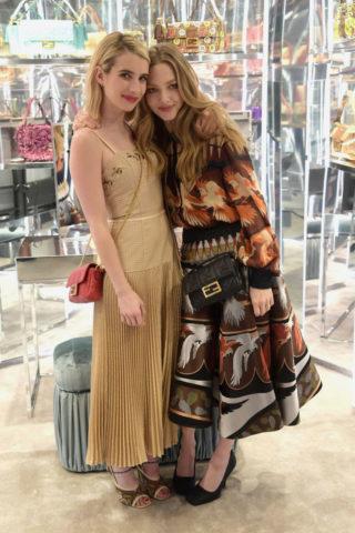Emma Roberts and Amanda Seyfried at Fendi Celebrates Baguette in NYC