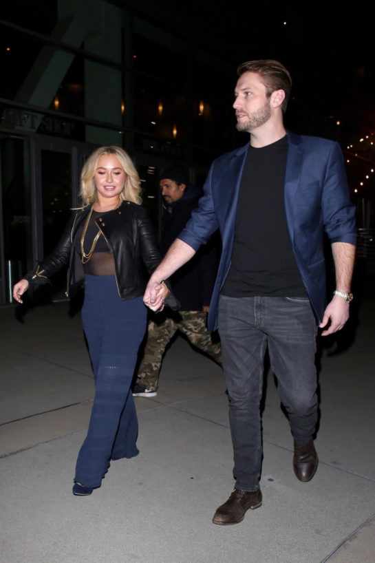 Hayden Panettiere and Brian Hickerson Night Out in Hollywood