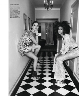 Kendall Jenner and Emily Ratajkowski in Vogue Magazine (March 2019)