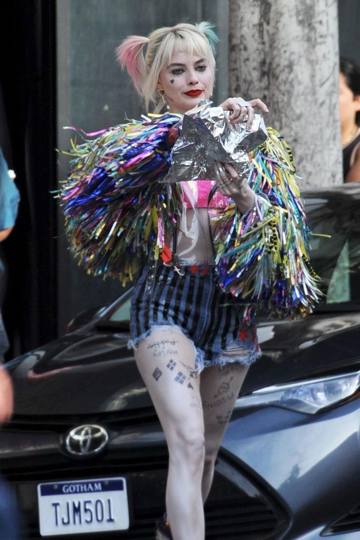 Margot Robbie as Harley Quinn in Birds of Prey in Los Angeles