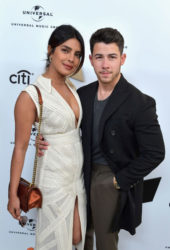 Priyanka Chopra and Nick Jonas at Sir Lucian Grainge's Artist Showcase in Los Angeles