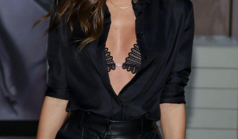 Celebrity Fashion – Sara Sampaio at Victoria's Secret Event in New York