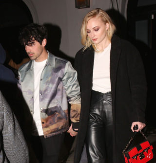 Sophie Turner and Joe Jonas Leaves Craig's Restaurant in West Hollywood