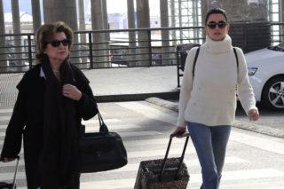 Street Style - Penelope Cruz arriving at the Madrid airport, Spain