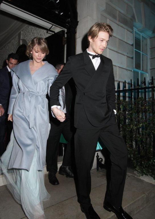 Taylor Swift and Joe Alwyn Leaves Vogue Bafta Party in London
