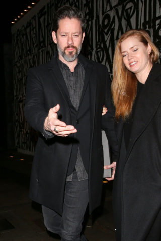 Amy Adams and husband Darren le Gallo leaving Craig's