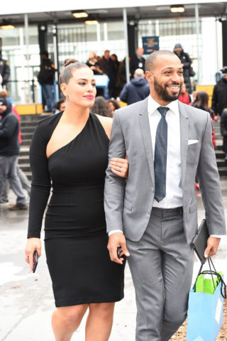 Ashley Graham and her husband Justin Ervin in New York