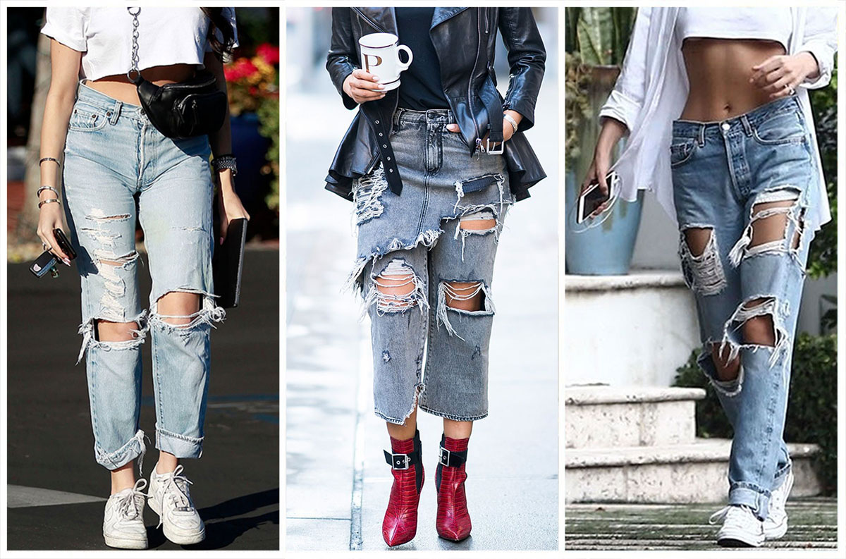 Celebrity Ripped Jeans