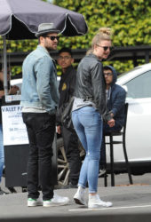 Emily VanCamp and Josh Bowman - Little Dom's Restaurant in Los Feliz