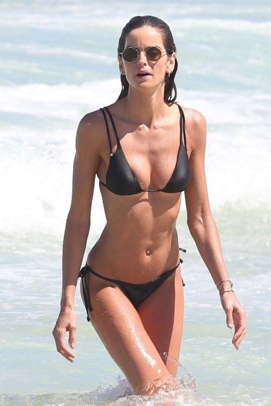 Izabel Goulart in Bikini at the Beach in Rio de Janeiro