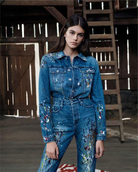Kaia Gerber - Calvin Klein Jeans' spring 2018 campaign
