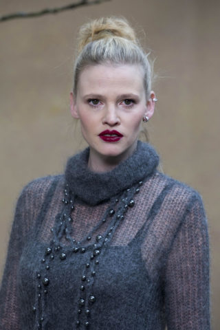 Lara Stone - Chanel Forest Runway Show in Paris