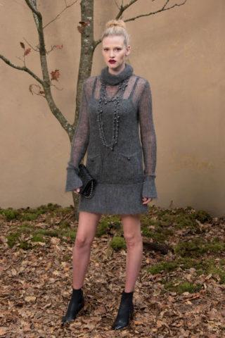 Lara Stone - Chanel Forest Runway Show in Paris