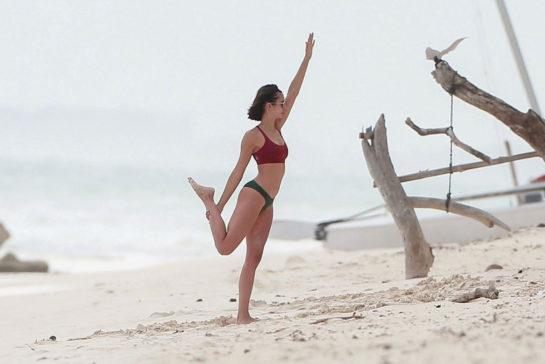Nina Dobrev in Bikini at the Beach in Tulum