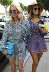 Paris and Nicky Hilton in West Hollywood