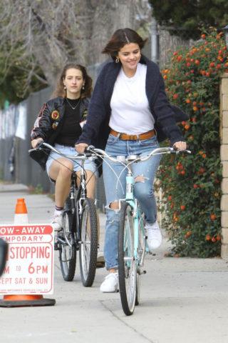 Selena Gomez - Riding her bike in Studio City