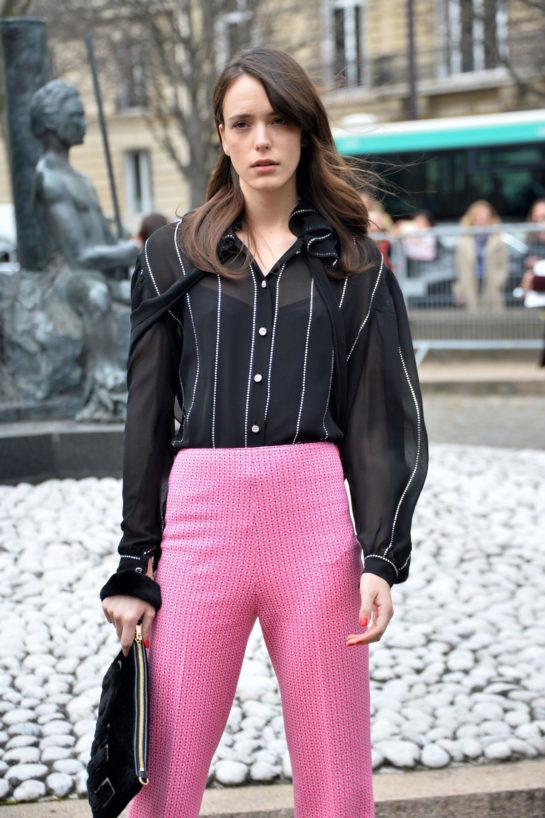 Stacy Martin - Miu Miu Show Paris Fashion Week