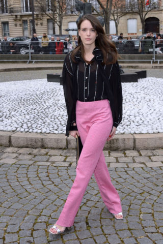 Stacy Martin - Miu Miu Show Paris Fashion Week