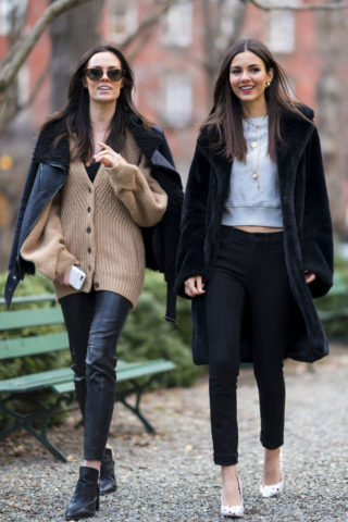 Victoria Justice and Madison Reed - Out in New York City