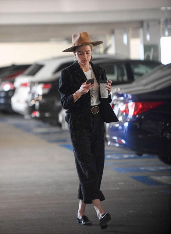 Amber Heard in Century City