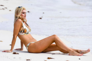 Ashley James in Bikini in Tulum, Mexico