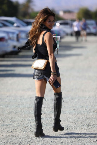 Brooke Burke at Coachella Valley Music and Arts Festival