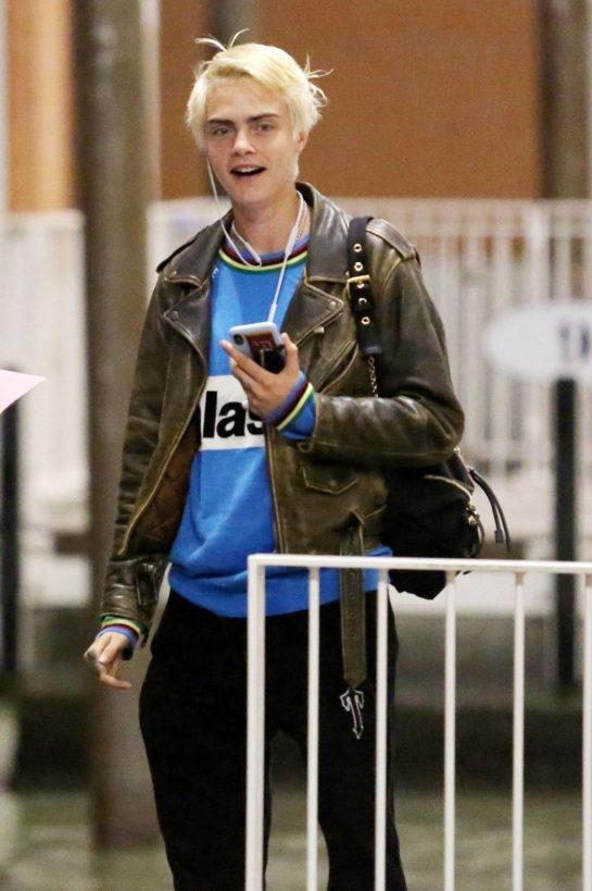 Cara Delevingne arriving in Venice, Italy