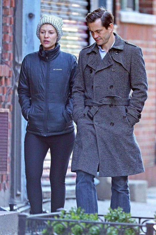 Claire Danes and her husband Hugh Dancy in New York