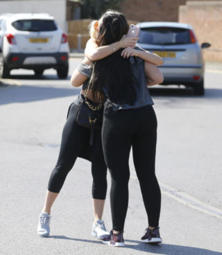 Danielle Armstrong and Lauren Goodger Leaving Gym in Essex