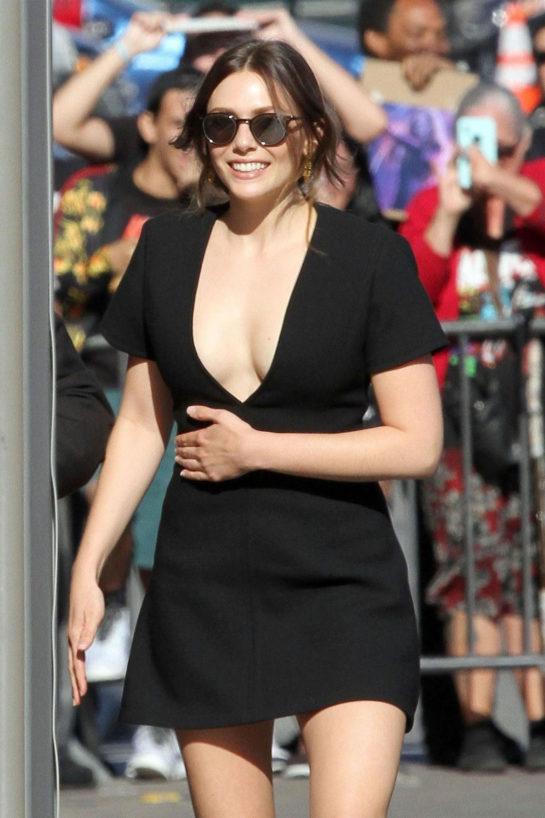 Elizabeth Olsen - Arriving to Appear on Jimmy Kimmel Live in Hollywood