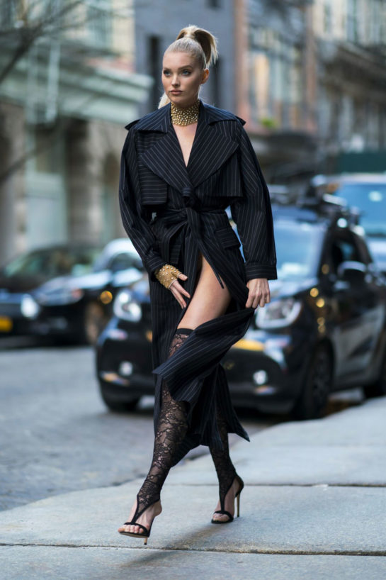 Elsa Hosk for Jacob and Co jewelry Photoshoot in NYC