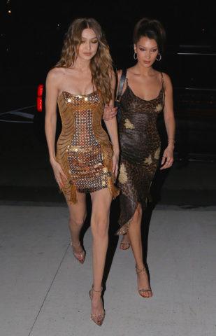 Gigi and Bella Hadid at Gigi's 23rd Birthday Party in New York
