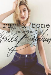 Hailey Baldwin - Rag & Bone DIY Project in New York, April 2018