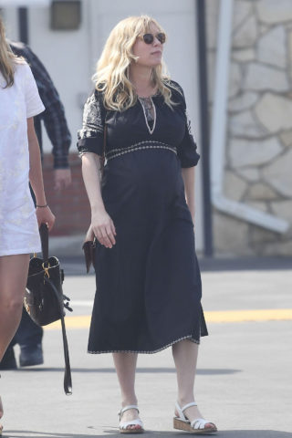 Kirsten Dunst - Easter service in Los Angeles