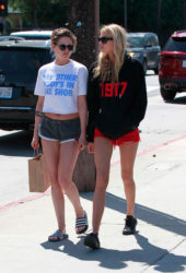 Kristen Stewart and Stella Maxwell in Shorts Out in Los Angeles