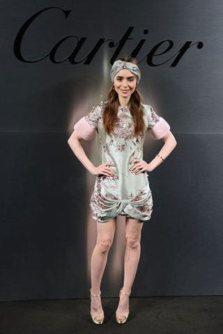 Lily Collins – Cartier's Bold and Fearless Celebration in San Francisco