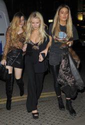Lottie Moss, Frankie Gaff and Sophie Habboo - Mahiki Nightclub in London