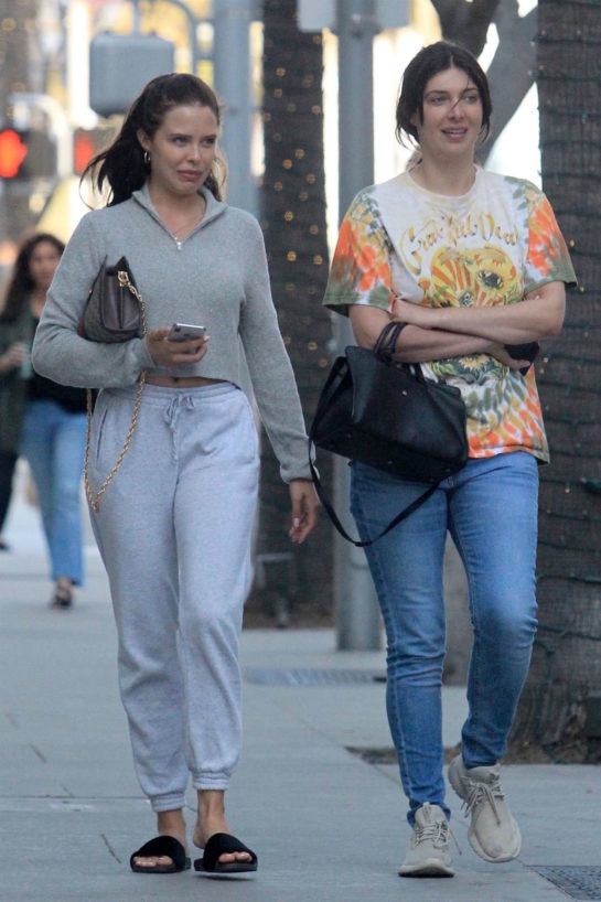 Mara Teigen and Brittny Gastineau Shopping in Beverly Hills