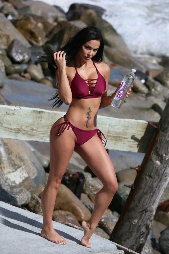 Melissa Riso in Bikini - Photoshoot for 138 Water at a Private Beach House in Malibu