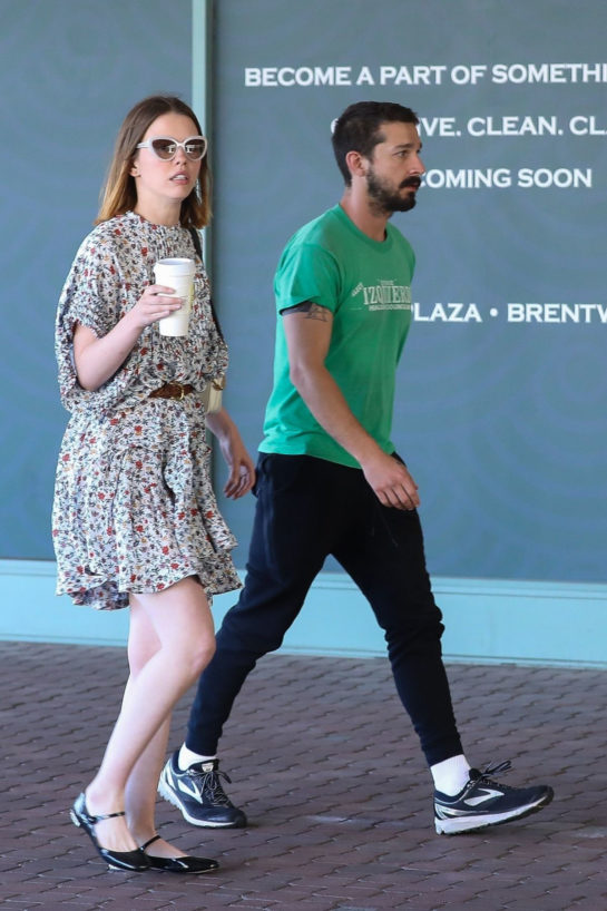 Mia Goth and Shia LaBeouf Out for Coffee in Brentwood