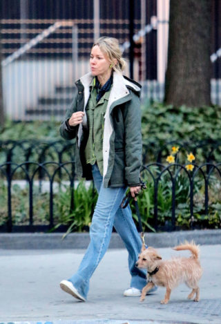 Naomi Watts Out with Her Dog in New York