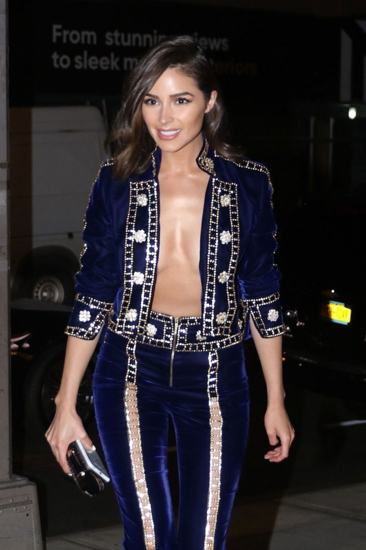 Olivia Culpo Arrives at Gigi's Birthday Party in New York