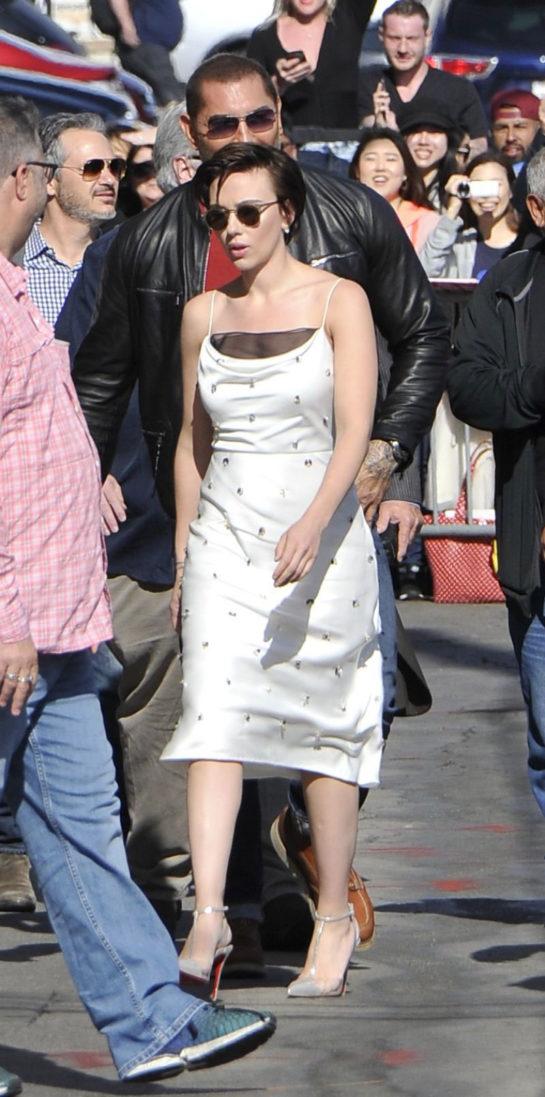 Scarlett Johansson Arriving to Appear on Jimmy Kimmel Live!