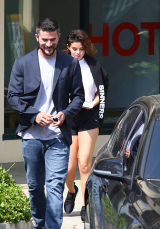 Selena Gomez - gym in Beverly Hills