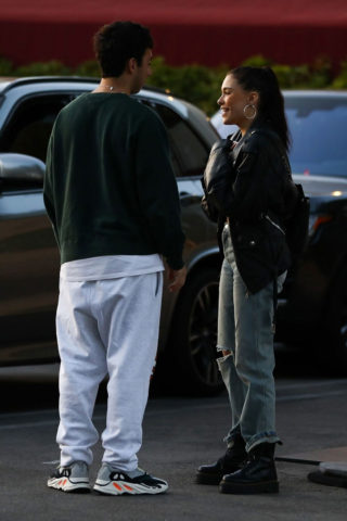 Street Style - Madison Beer With Her Boyfriend Zack Bia in Los Angeles