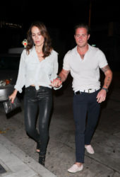 Viviane Thibes and Cameron Douglas at Craig's in West Hollywood