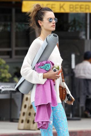Alessandra Ambrosio Leaves a Yoga Class in Santa Monica