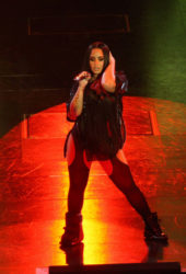 Demi Lovato Performs at a Concert in Dublin