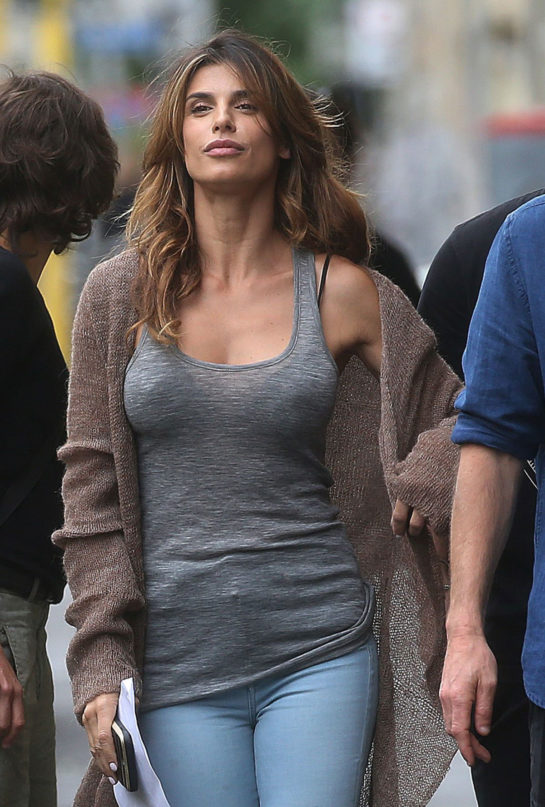 Elisabetta Canalis on the Set of a Photoshoot in Milan