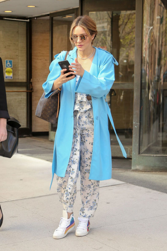 Katharine McPhee - Leaving an Office Building in New York City